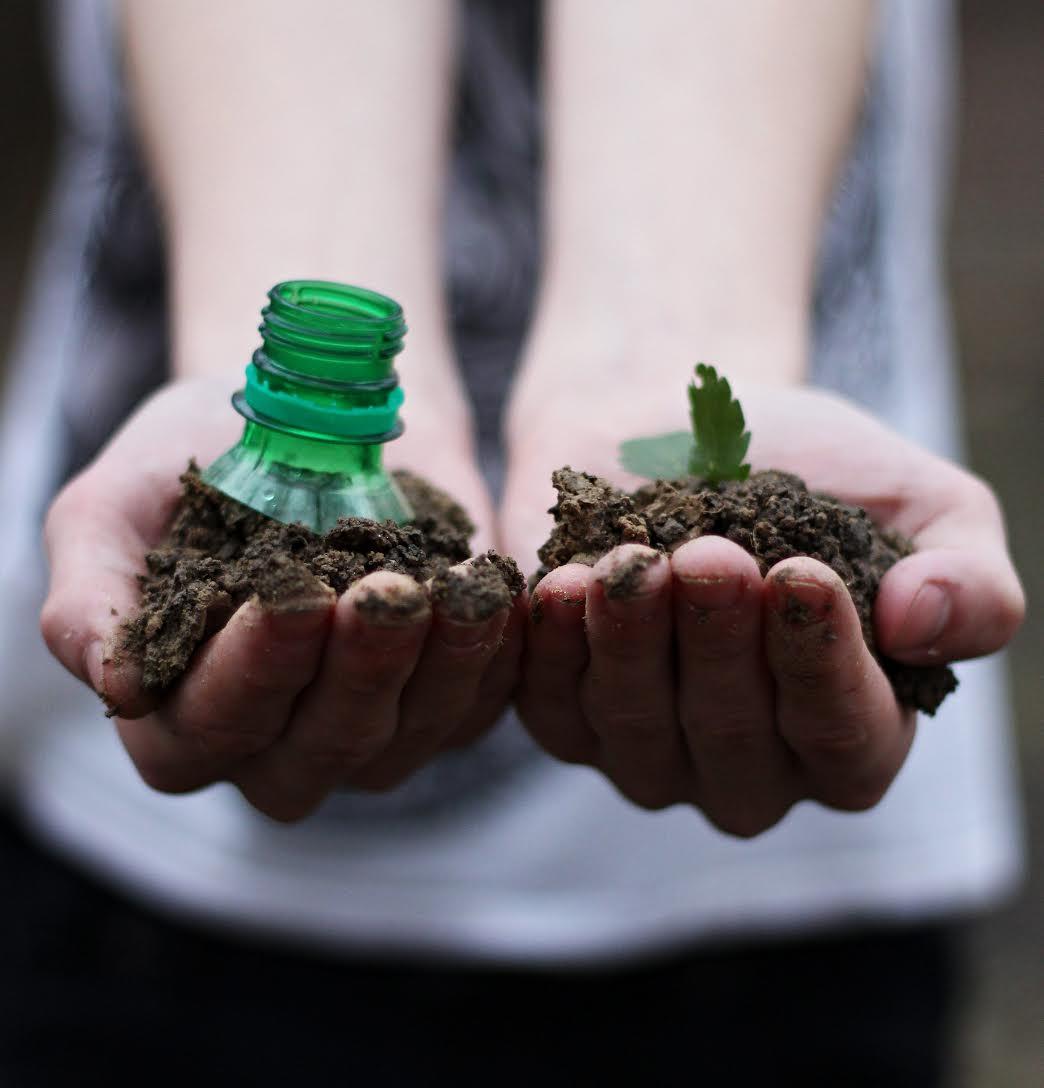 "Don't let plastic bottles ""grow"" on the fields."