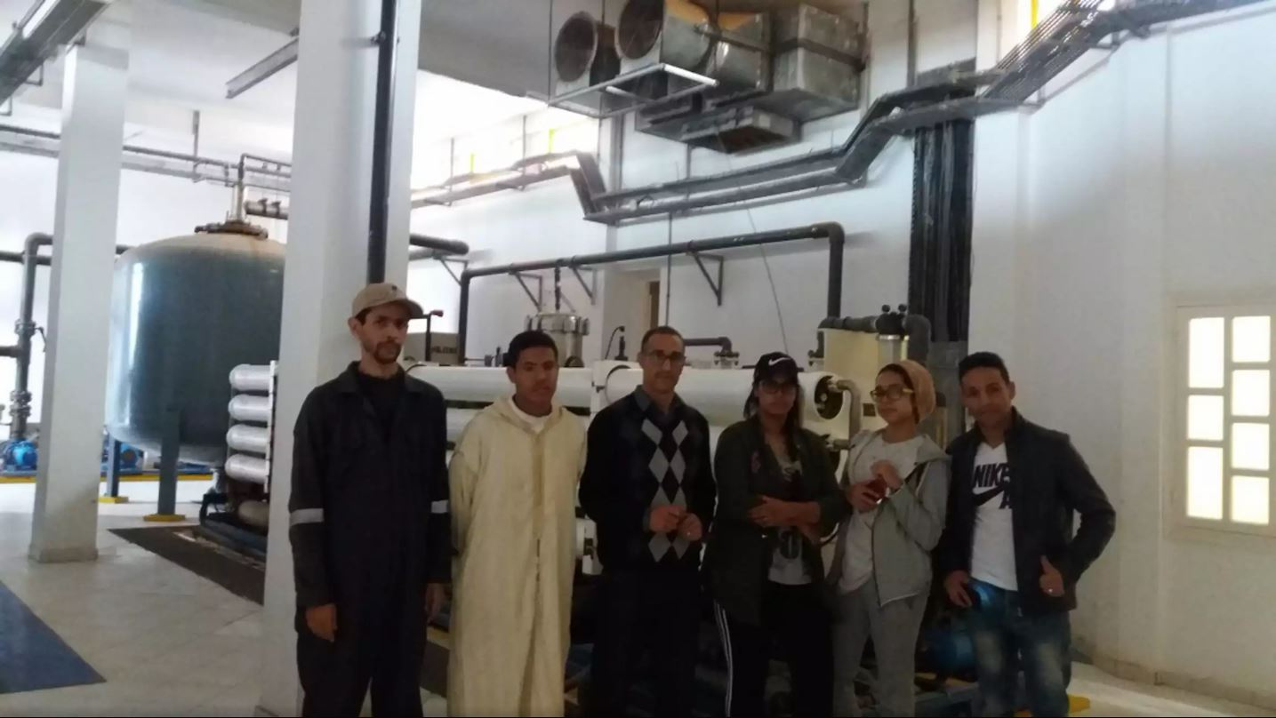 "YRE field visit to the desalination plant ""Khank lhmam"""