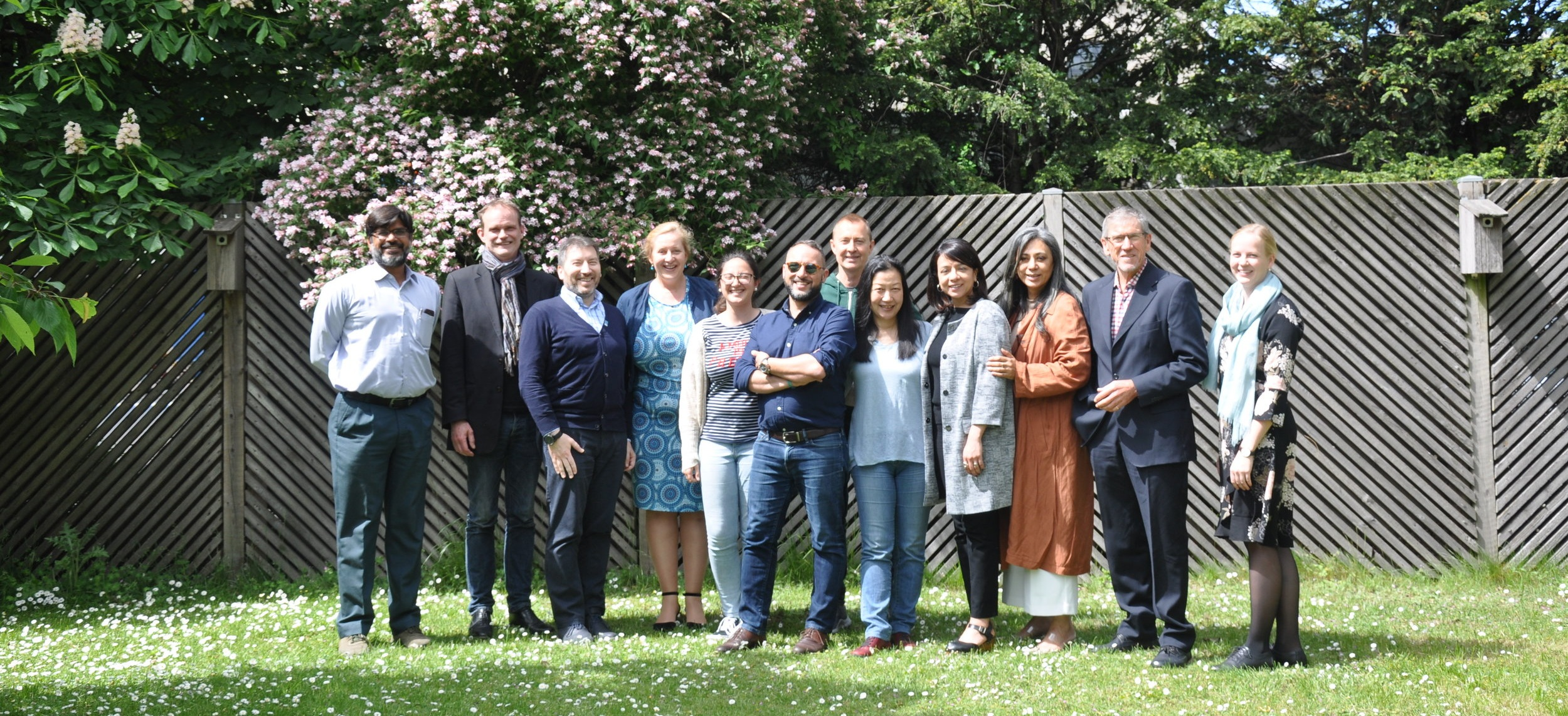 From left to right: Pramod Sharma, Torvald Jacobsson, Sasha Karajovic, Gosia Luszczek, Filipa Murta, Pedro Marcelino. Richard Steed, Julie Saito, Anne Vela-Wagner, Mayra Navarrete, Christopher Slaney and Kristina Madsen
