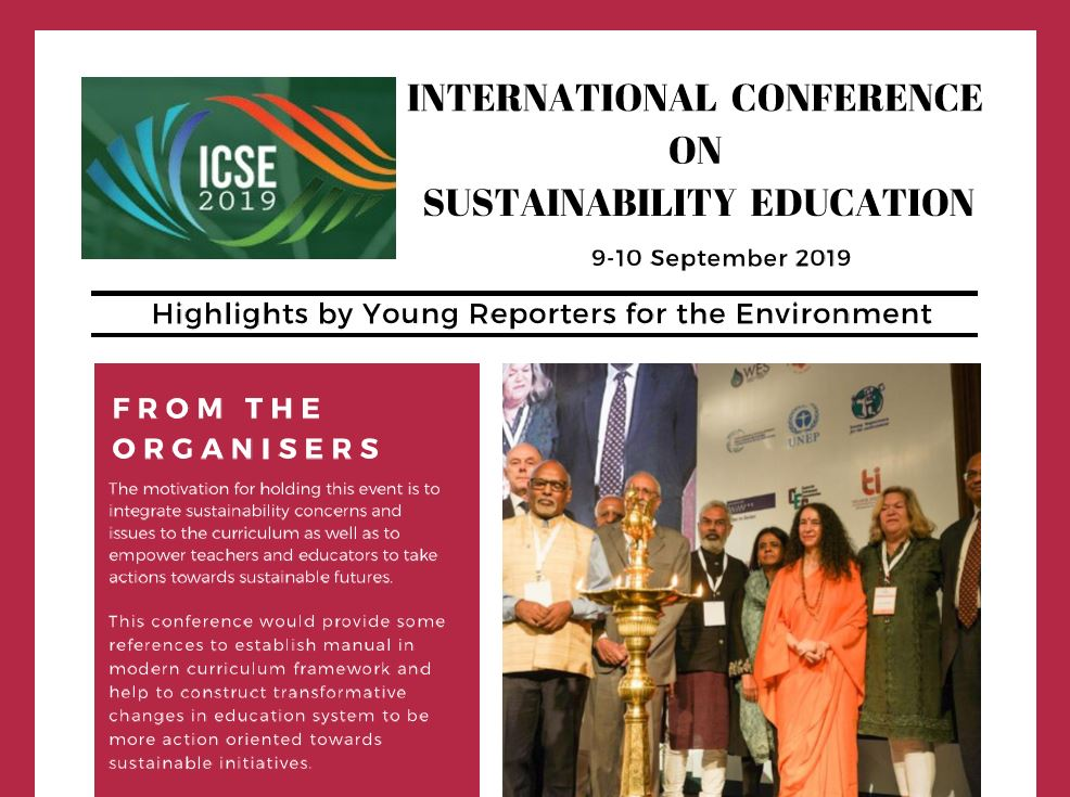 Click on the above image to read the full newsletter from Day 1 of the ICSE.