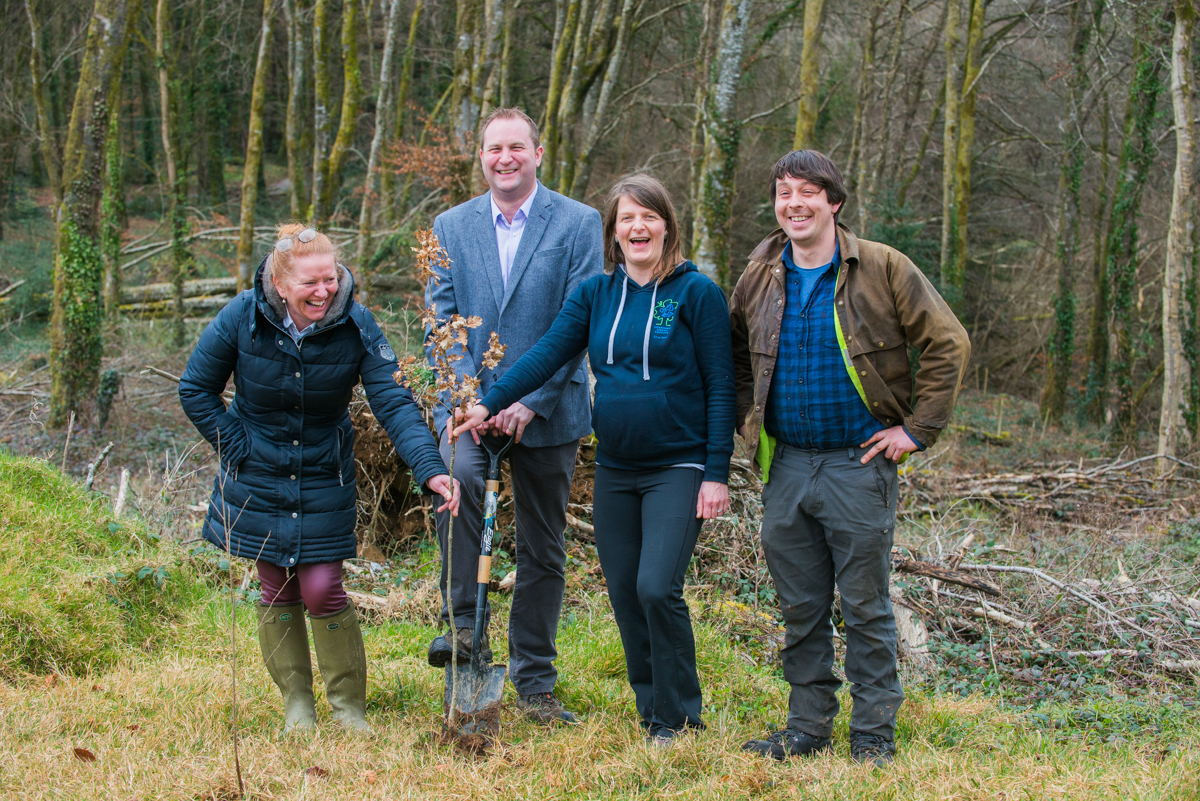 From left; Kay Hartigan from The Tree Council of Ireland, Bernard Burke from Coillte, Rachel Geary, LEAF National Coordinator and Matt Kelleher from Mulkear Forestry.