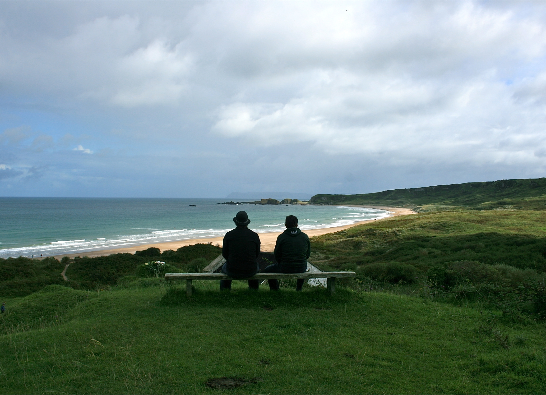 Father and son, Whilepark Bay, Northern Ireland.