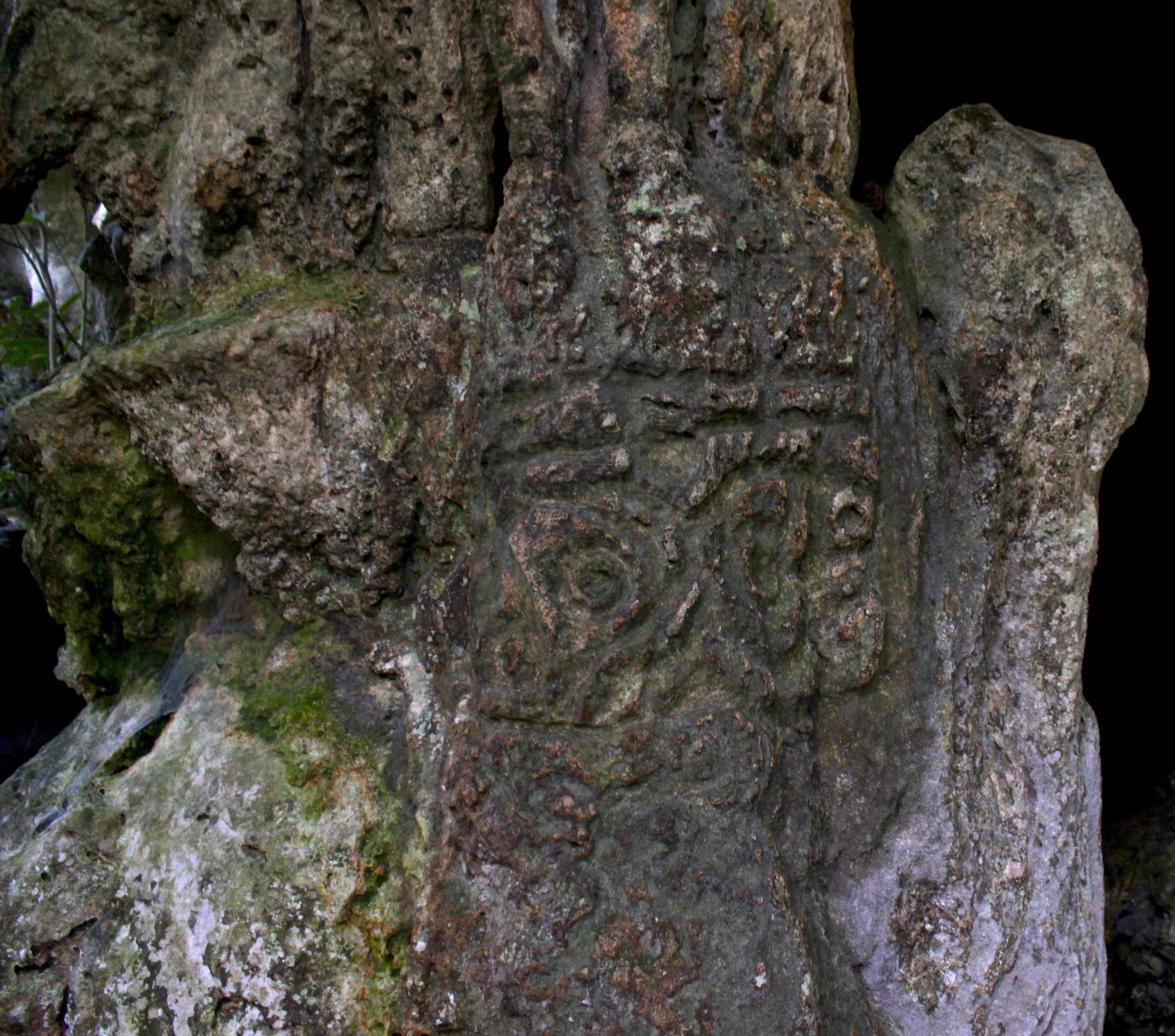Unos de los 28 sitios archeologicos del Prodigio, en las orillas del Samana, Jules Domine.JPG