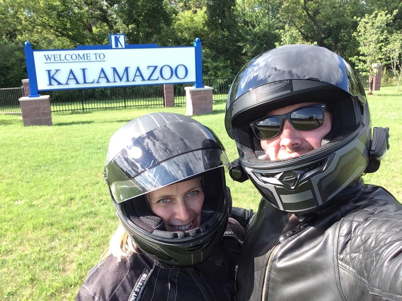 Cara & Geoff arrive in Kalamazoo.JPG