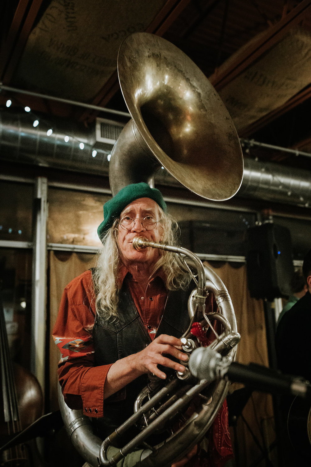 Meet The Tuba Man of Nolansville Pike, Nashville. The magic of Nashville has always been its big eclectic community of creatives — most of whom will never make it onto billboards.  Image: Jakob Lewis, producer of the NPR podcast Neighbors in Nashville.