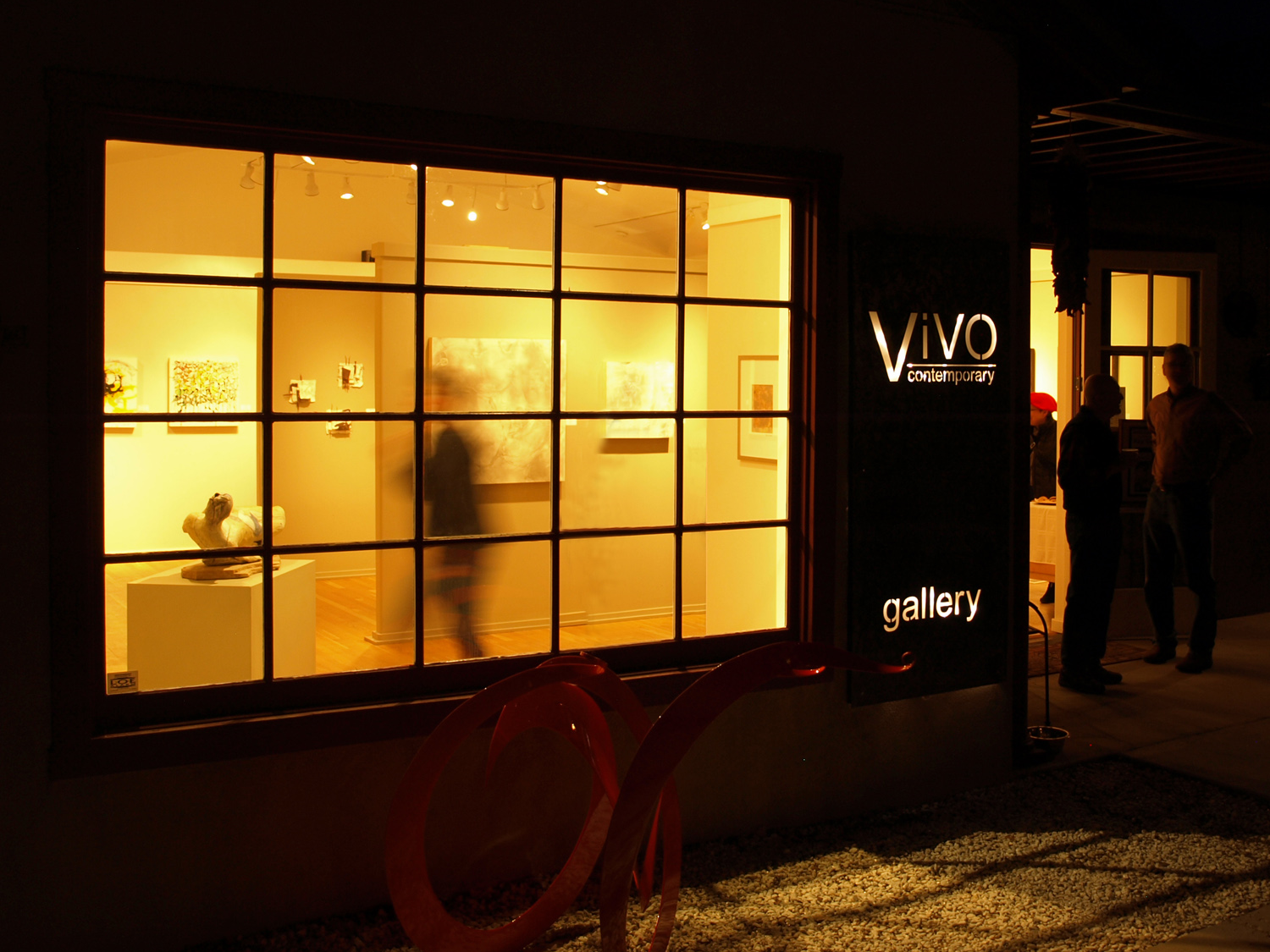 ViVO during a Friday evening reception.