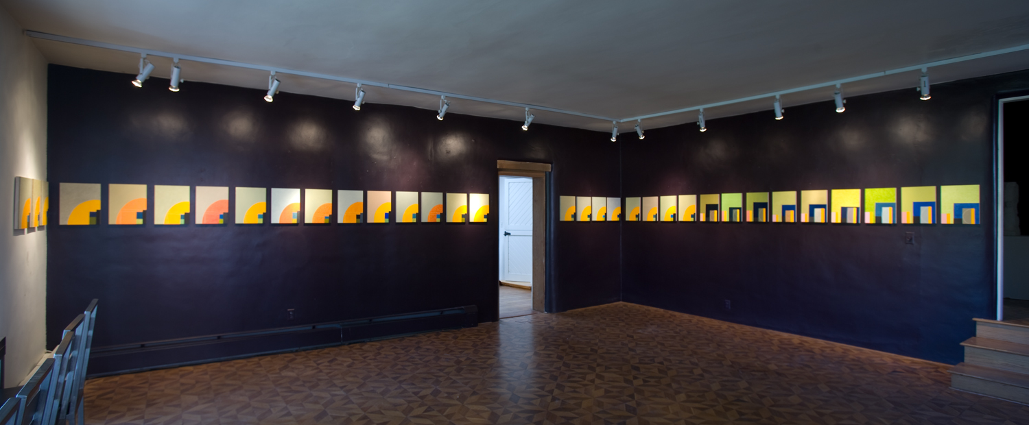 Panorama of Orange Arc series (left) and Blue Gate series (right) at Salon Mar Graff, May 2009