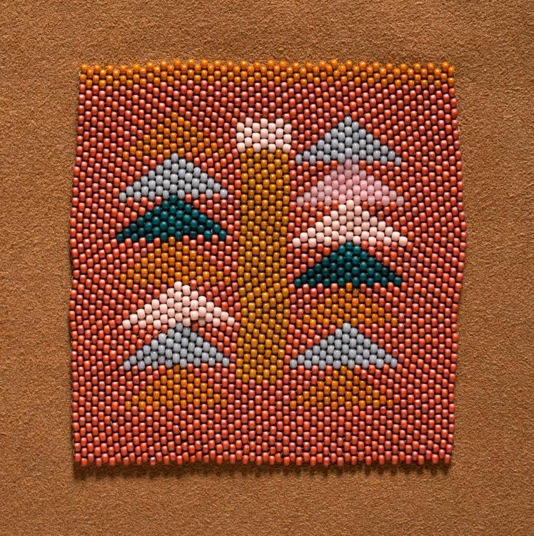 Gray triangles (2017), peyote stitch