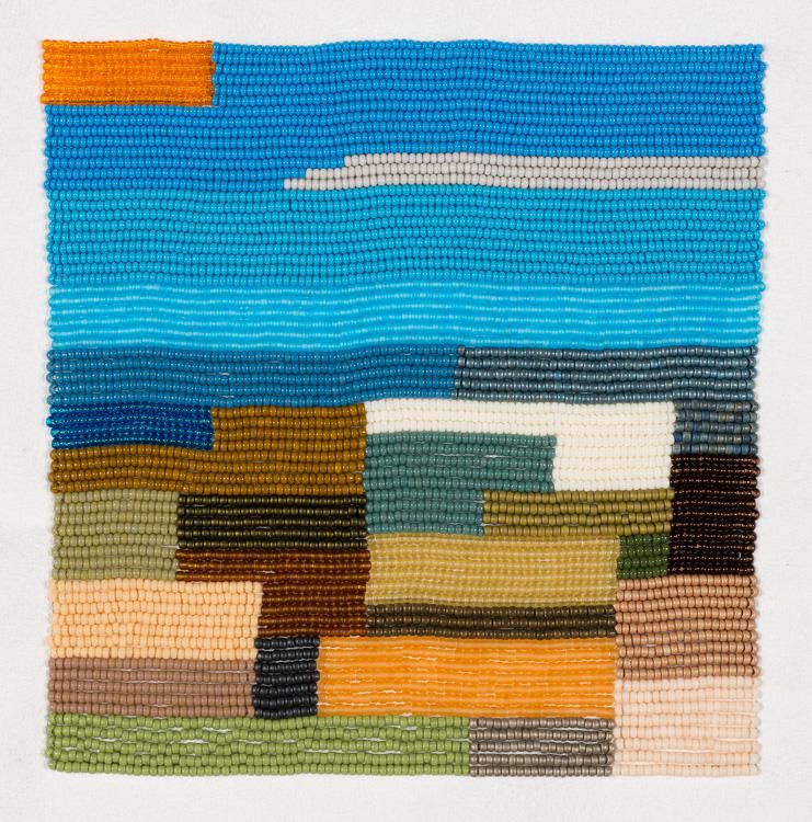 Gulf dreams 2 (2017), two-needle applique