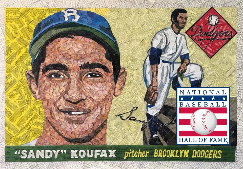 """1955 Topps Sandy Koufax"", now part of the permanent collection of the National Baseball Hall of Fame in Cooperstown, NY."