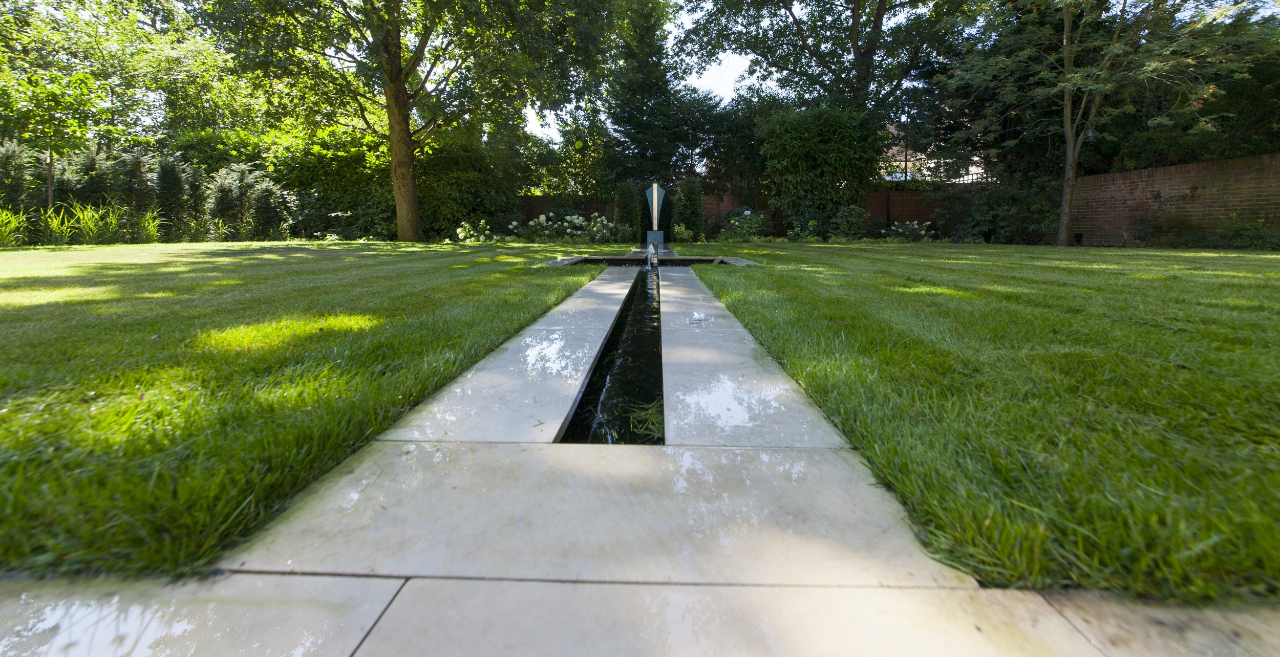 - The Rill bisects the main lawn.