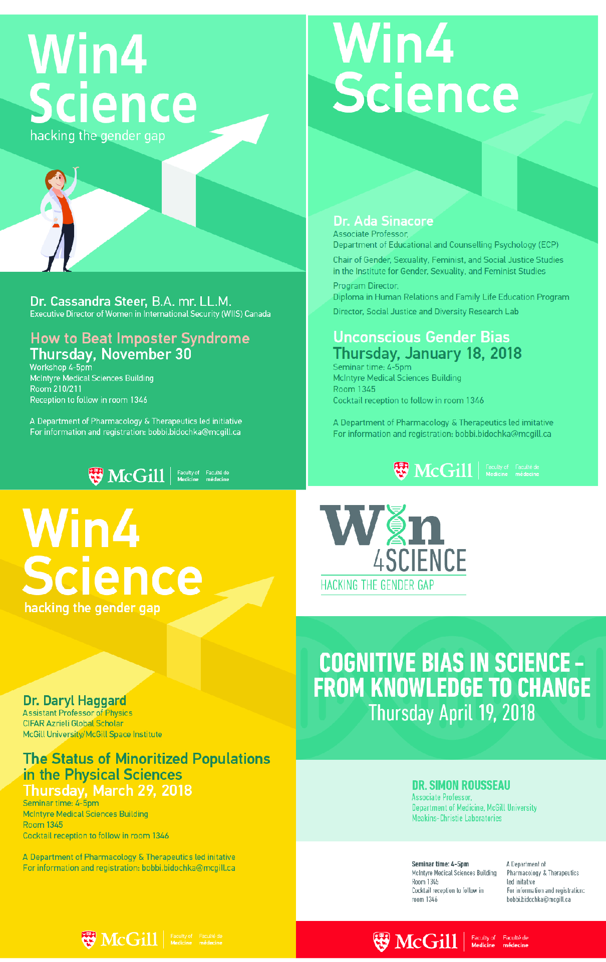 What Win4Science does - Awareness program with monthly seminars on bias and other issues.