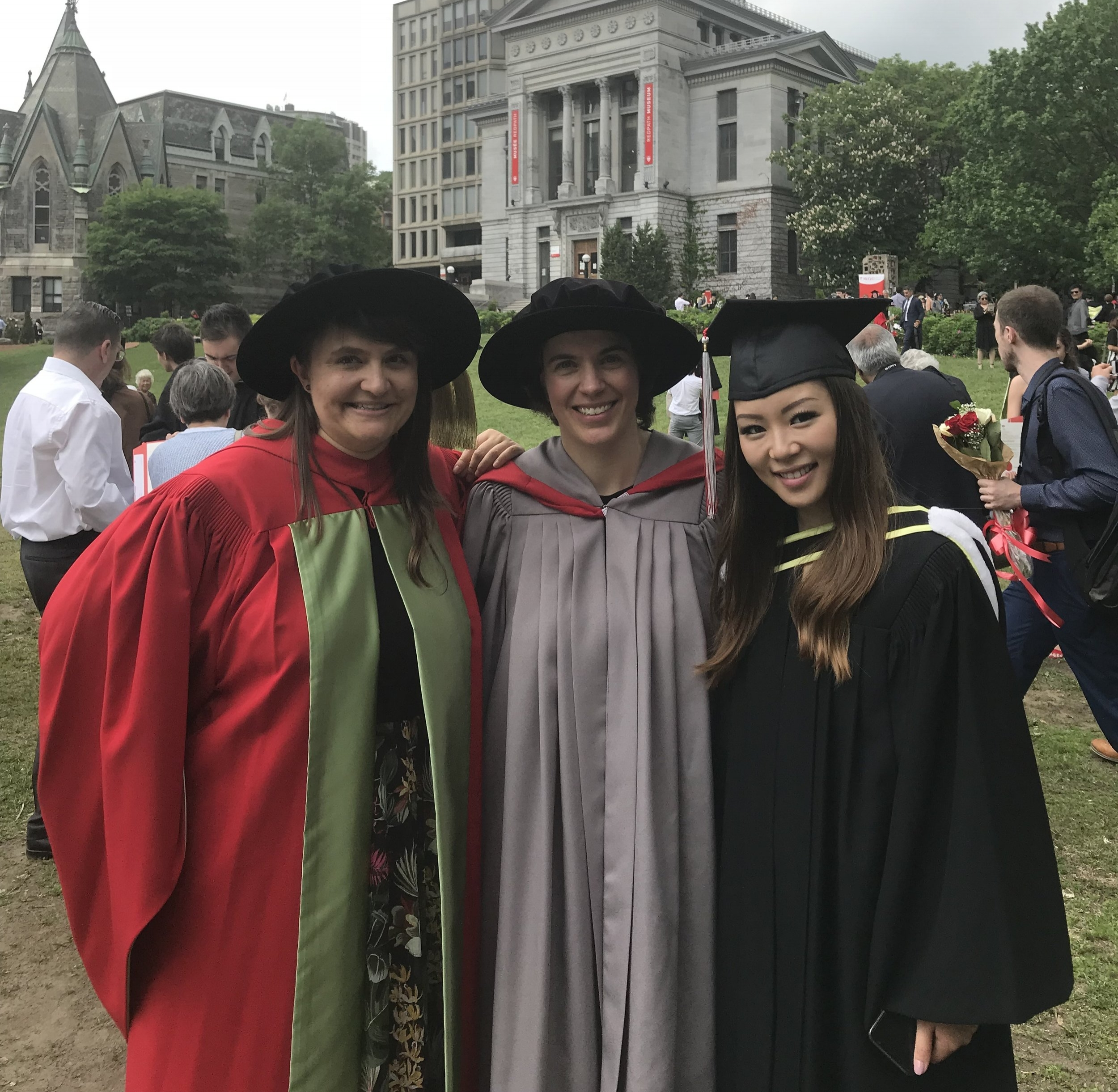Convocation 2018 - Congratulations to Sandra (PhD) and Jackie (BSc Honors)!
