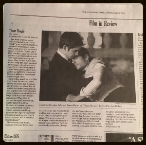 Large picture & review in the  NEW YORK TIMES , above the fold!