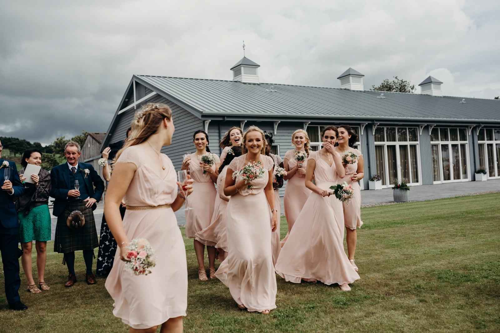 barn at barra castle rustic wedding 9 maids-139.jpg