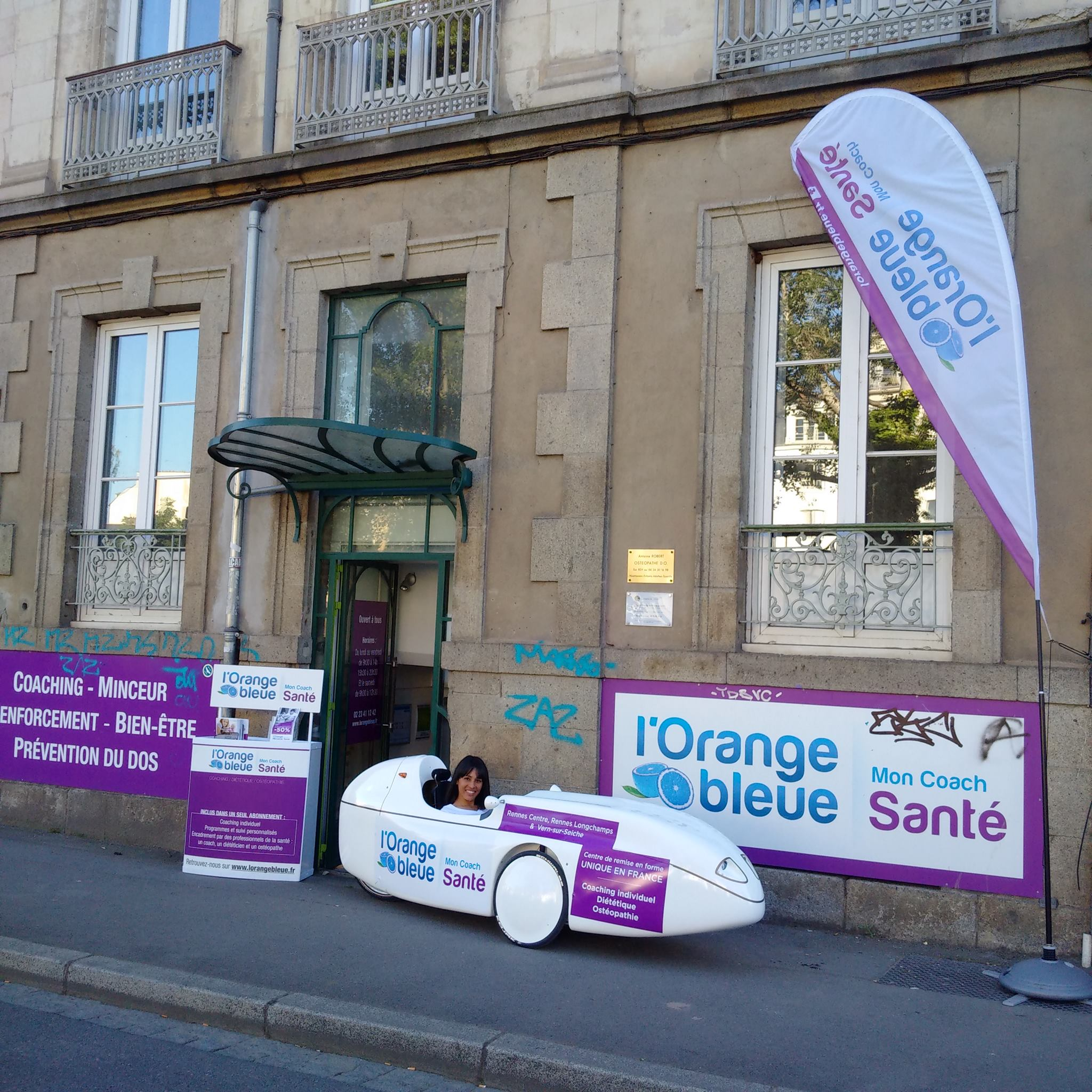 Opération L'Orange Bleue Mon Coach Santé à Rennes le 06/07/2016