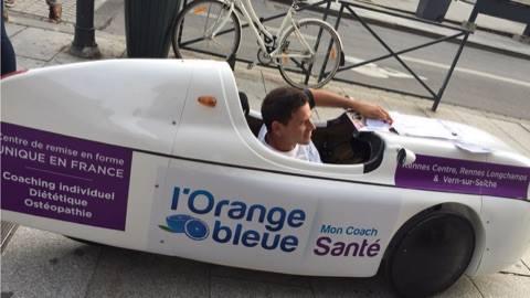 Animation FitCar L'Orange Bleue Mon Coach Santé Rennes le 21/09/16  sous le soleil Breton