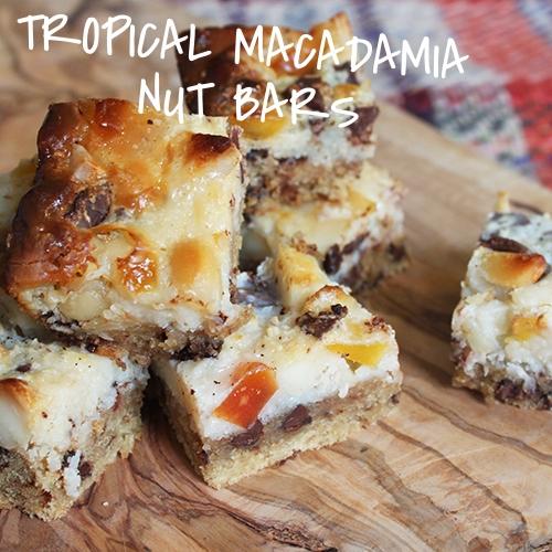 Tropical Macadamia Nut Bars