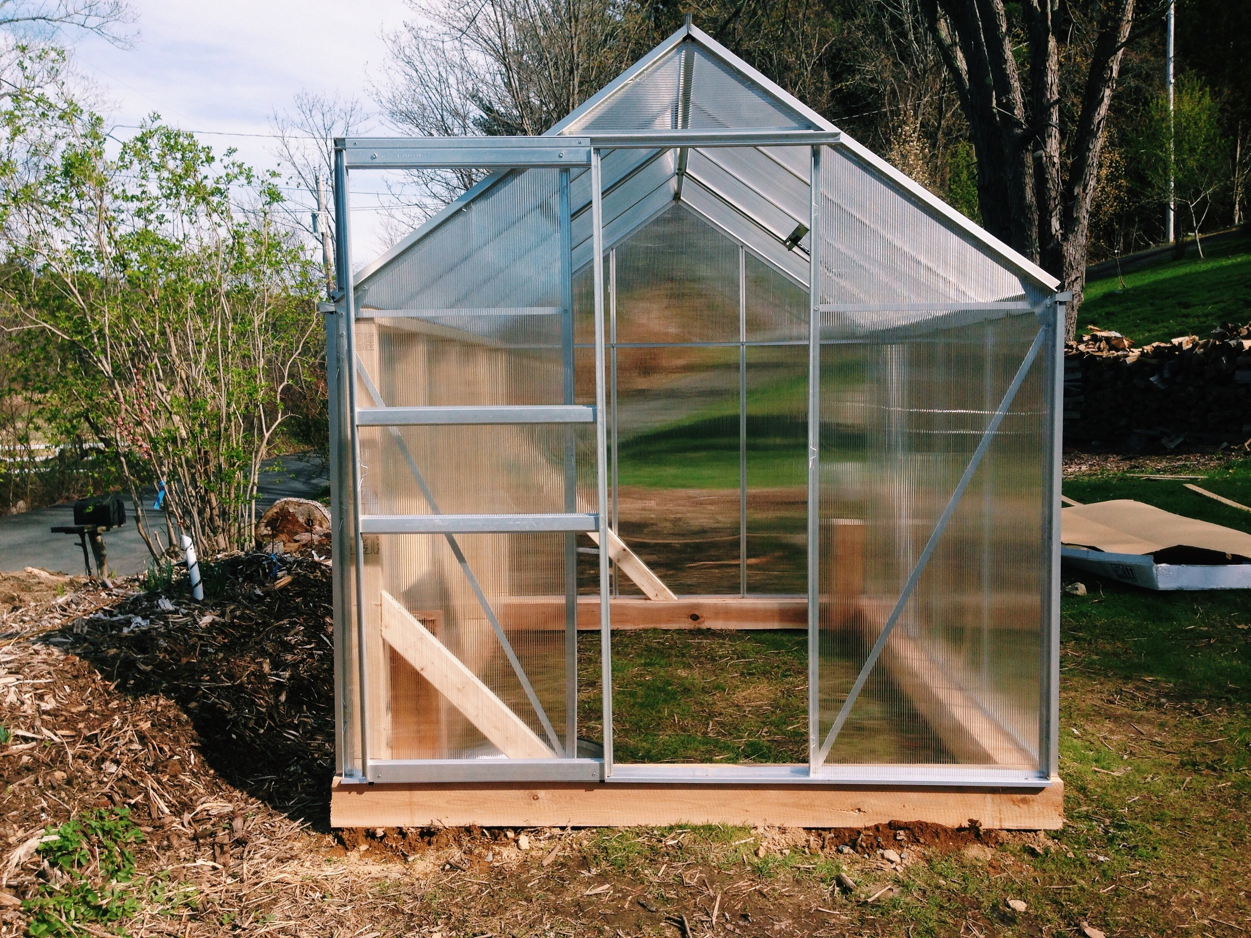 April 2017  The finish Greenhouse in its temporary location.