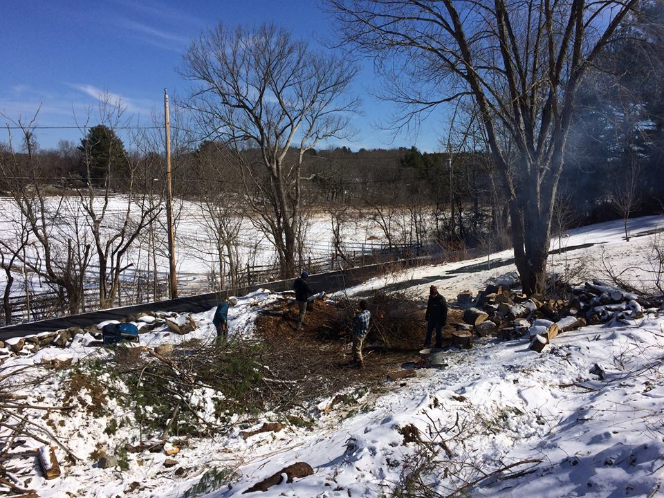March 2018  Brush fire in the snow