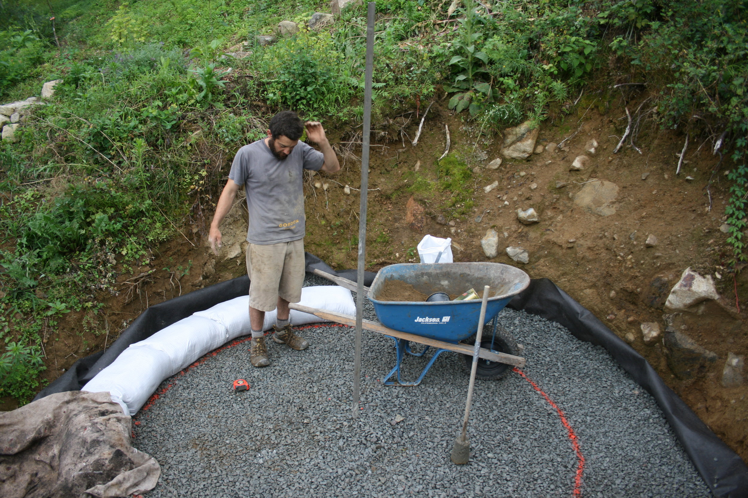 July 2017  Root cellar earth bag construction