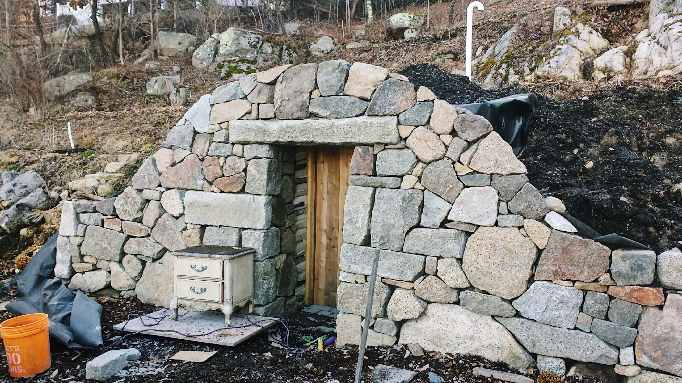 February 2018  Still building that root cellar