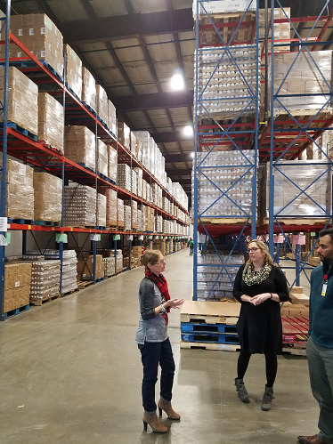 An impressive food bank that services 11 counties in central and northern NY requires a lot of food as seen in this photo. Food Bank staff explain how a foodbank with only a handful of employees is able to ensure no food goes to waste with an impressive inventory management system!