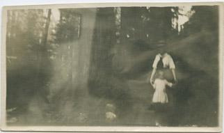 She-ape (birth name Heloise) and Nanny (name unknown), Colorado Springs, CO, 1905. Only known photo of young Heloise.