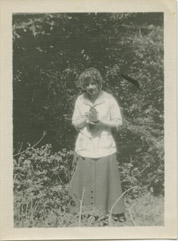 NW founder M.O. with small totem, Colorado Springs, CO, 1912
