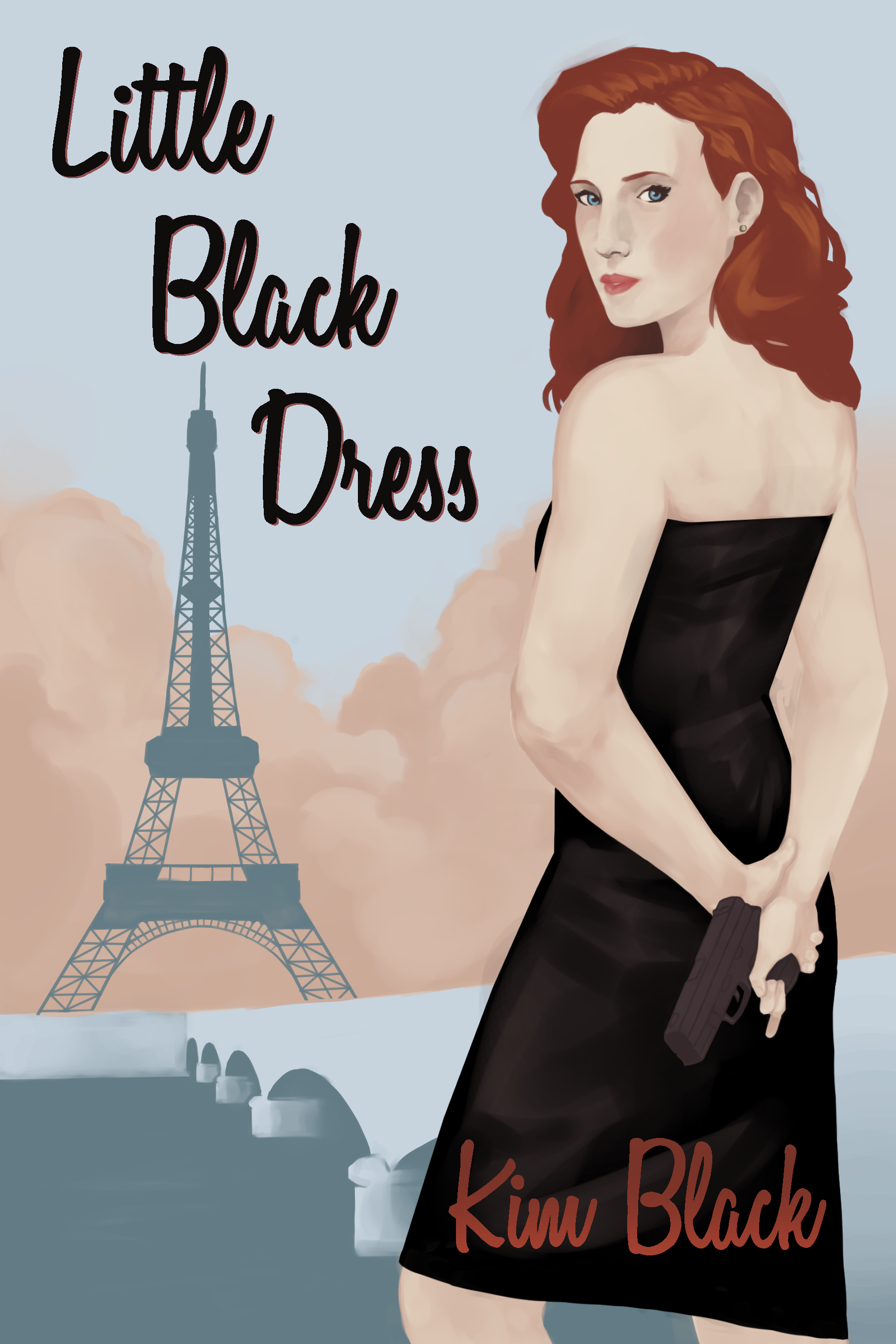 The LITTLE BLACK DRESS cover is a beautiful design created by Kim's son.