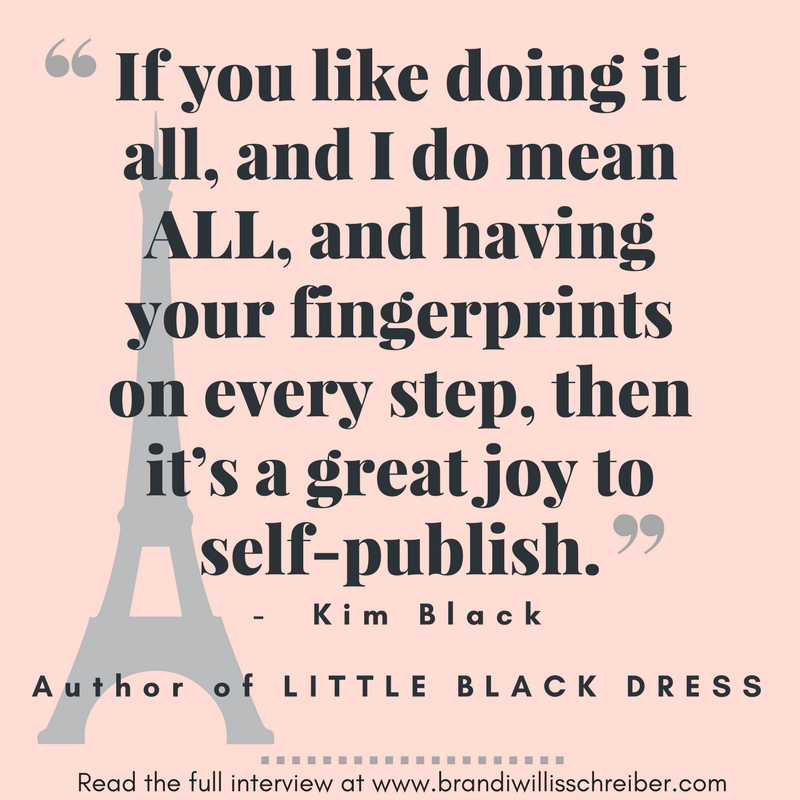 Wise advice from author Kim Black
