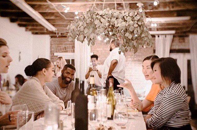 Amazing photo by @thisisjamesj of Wednesday night's dinner at @tomboydesignco