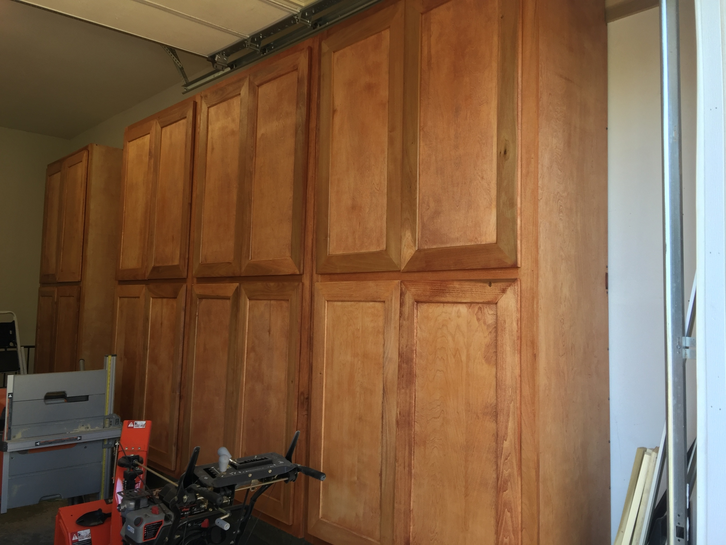 Dale Williamson's Shop Wall Cabinets