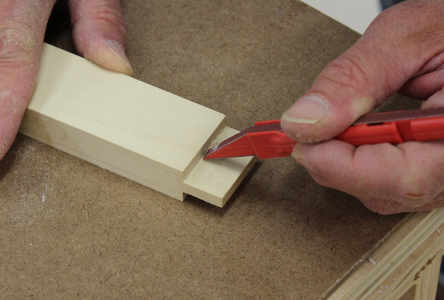 Figure 3 - Fine-tuning the fit of a tenon