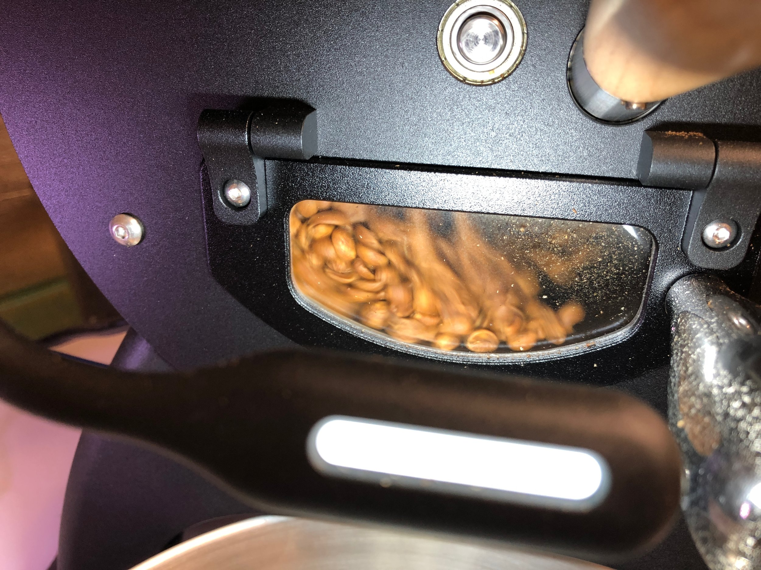 Beans roasting in my Aillio Bullet roaster