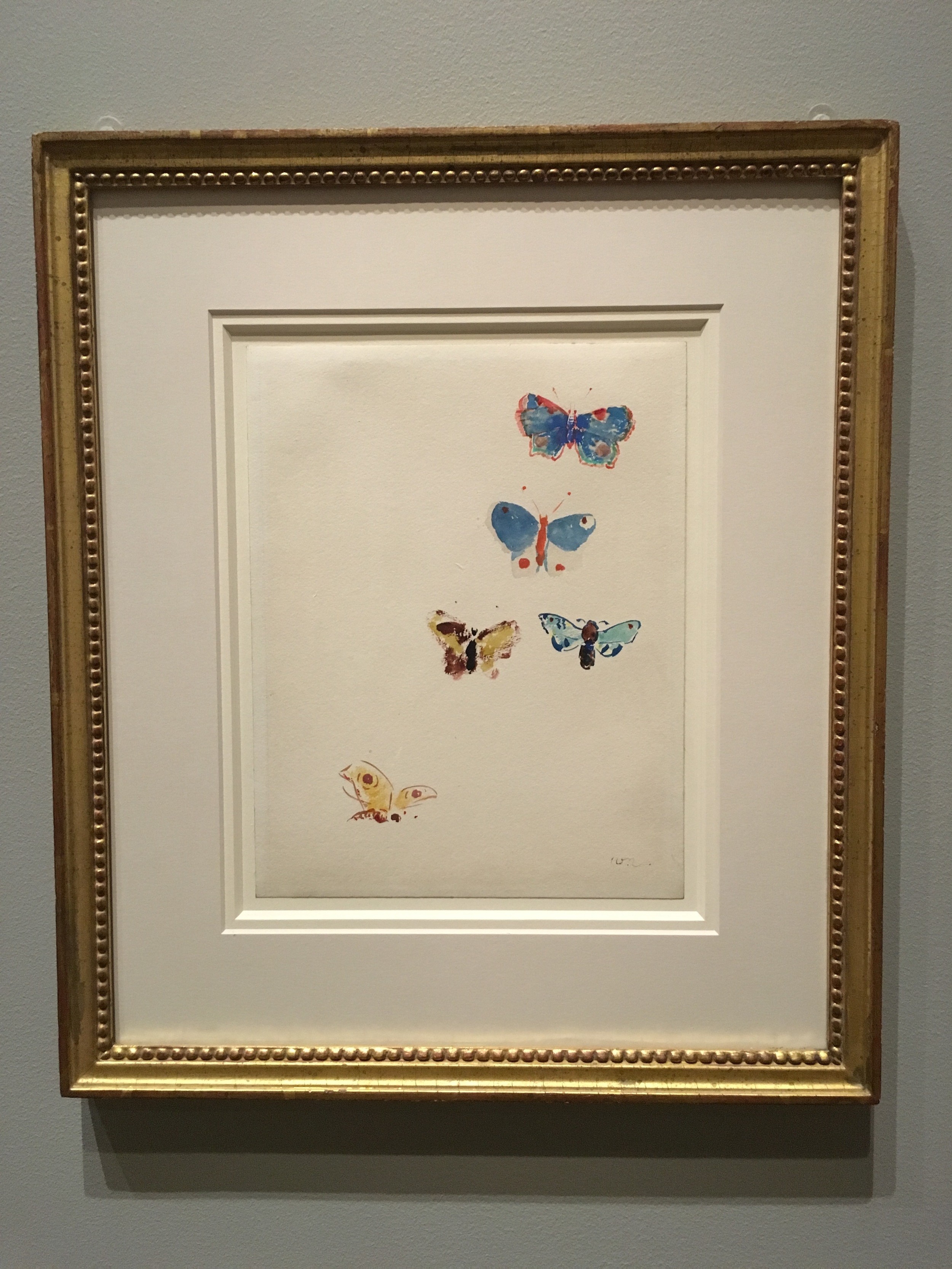 Odilon Redon. Butterflies. From Mellon's collection. No caption needed -- other than pure joy!