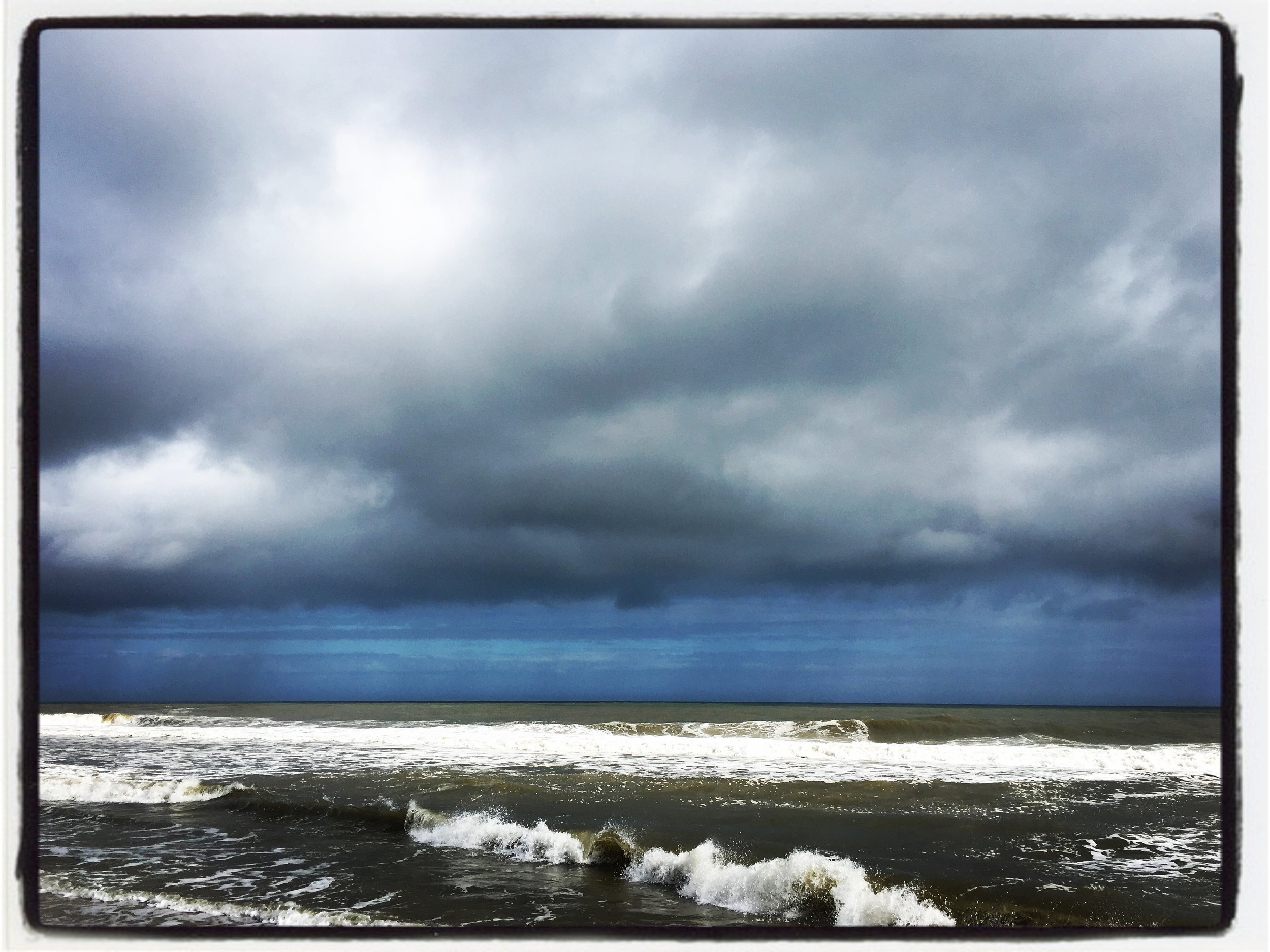 Blue Storm: The first day was stormy, and glorious, and blue, and powerful!