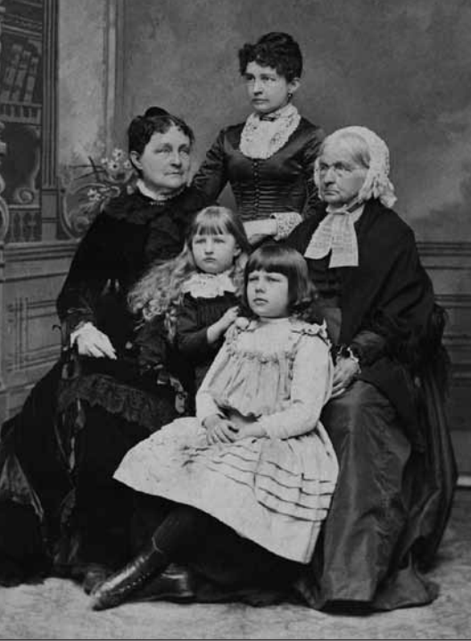 The women of the Cobb-Wilcox family -- my grandmother is in the front.