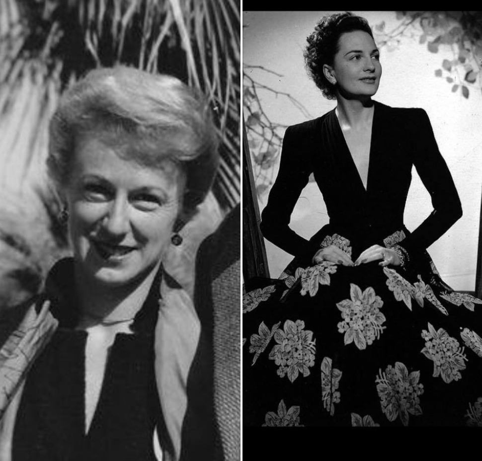My stylish and powerful mother Mary Grant Price and stepmother Coral Browne Price.