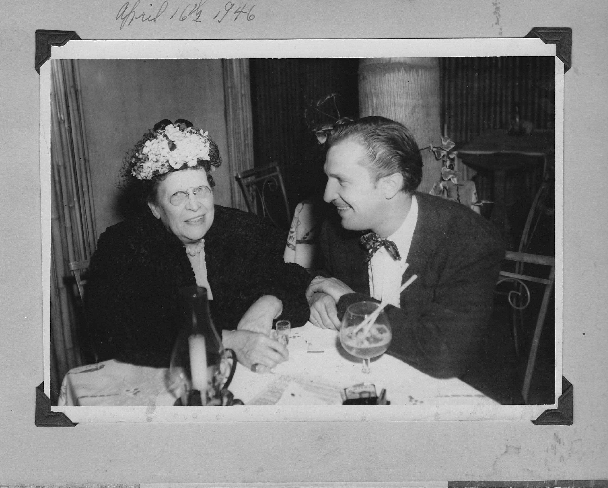 Marguerite Wilcox Price & Vincent Price 1946