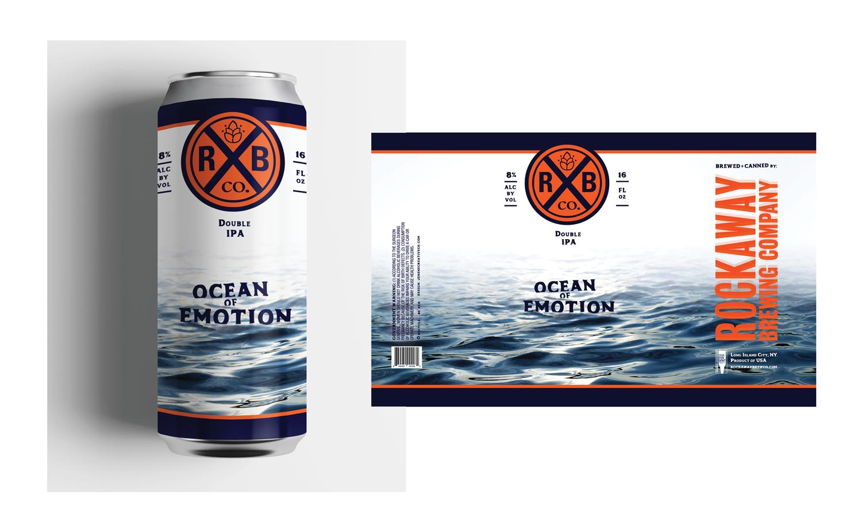 Beer label design for Rockaway Brewing Co.