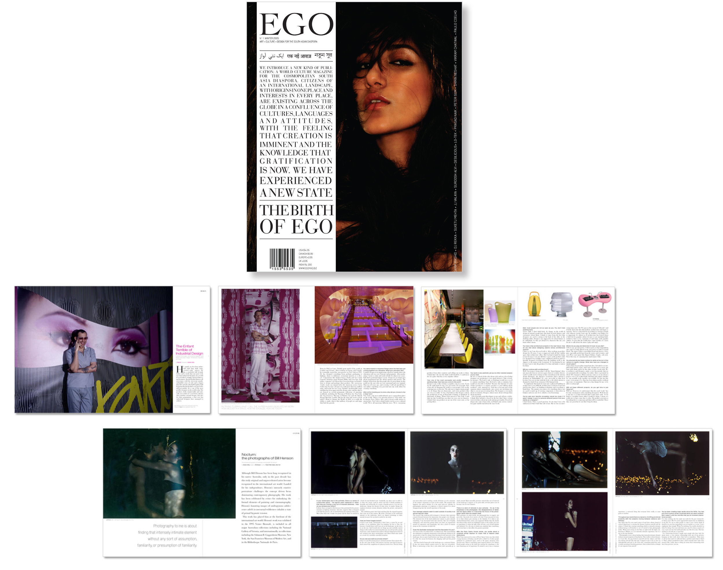 Magazine creative direction and graphic design