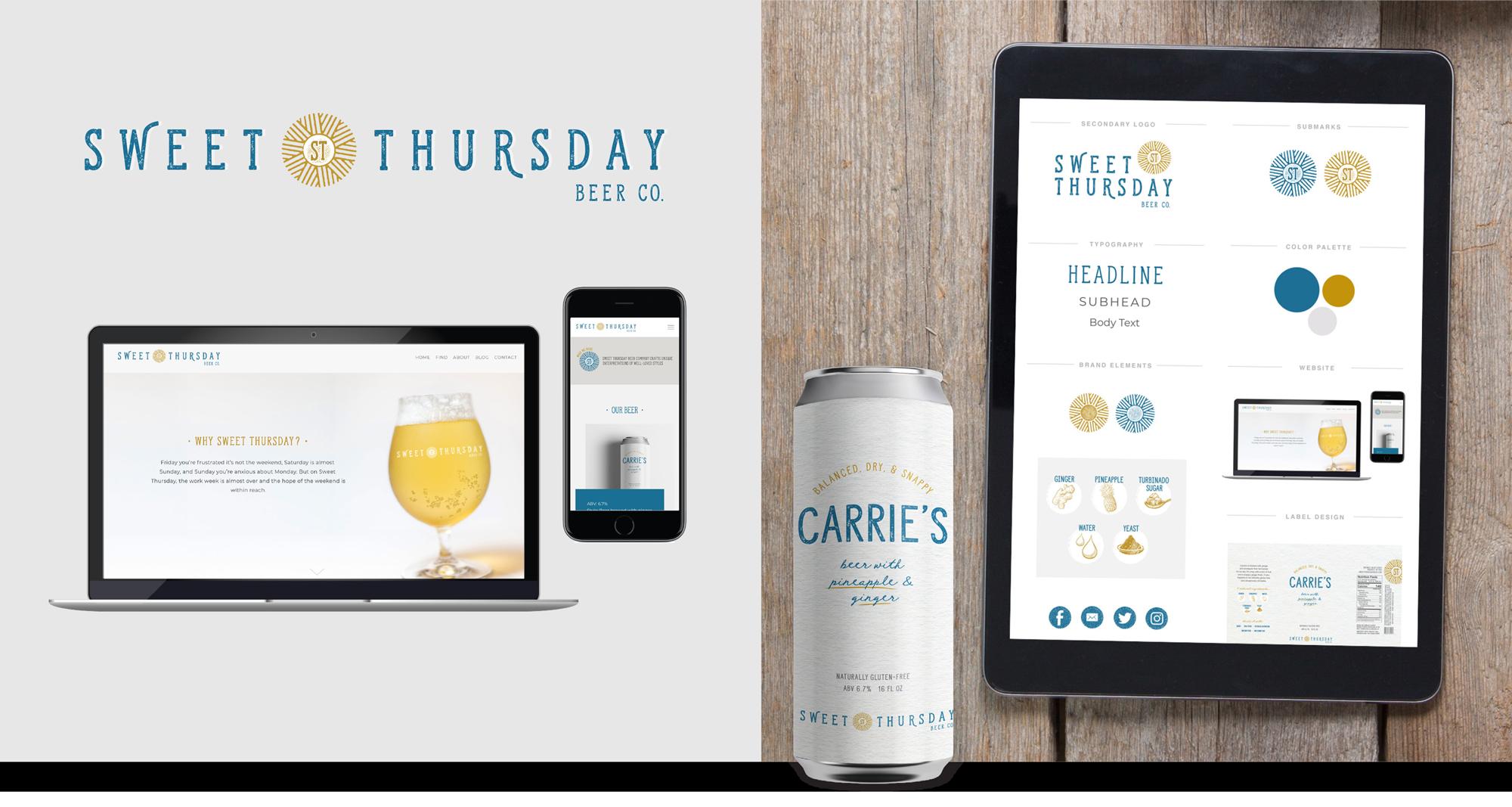sweet thursday beer co branding and website design