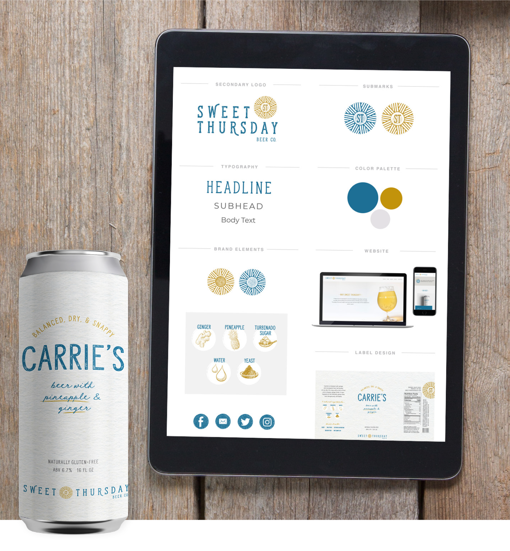 Sweet Thursday Beer Co. - Branding & Website Design