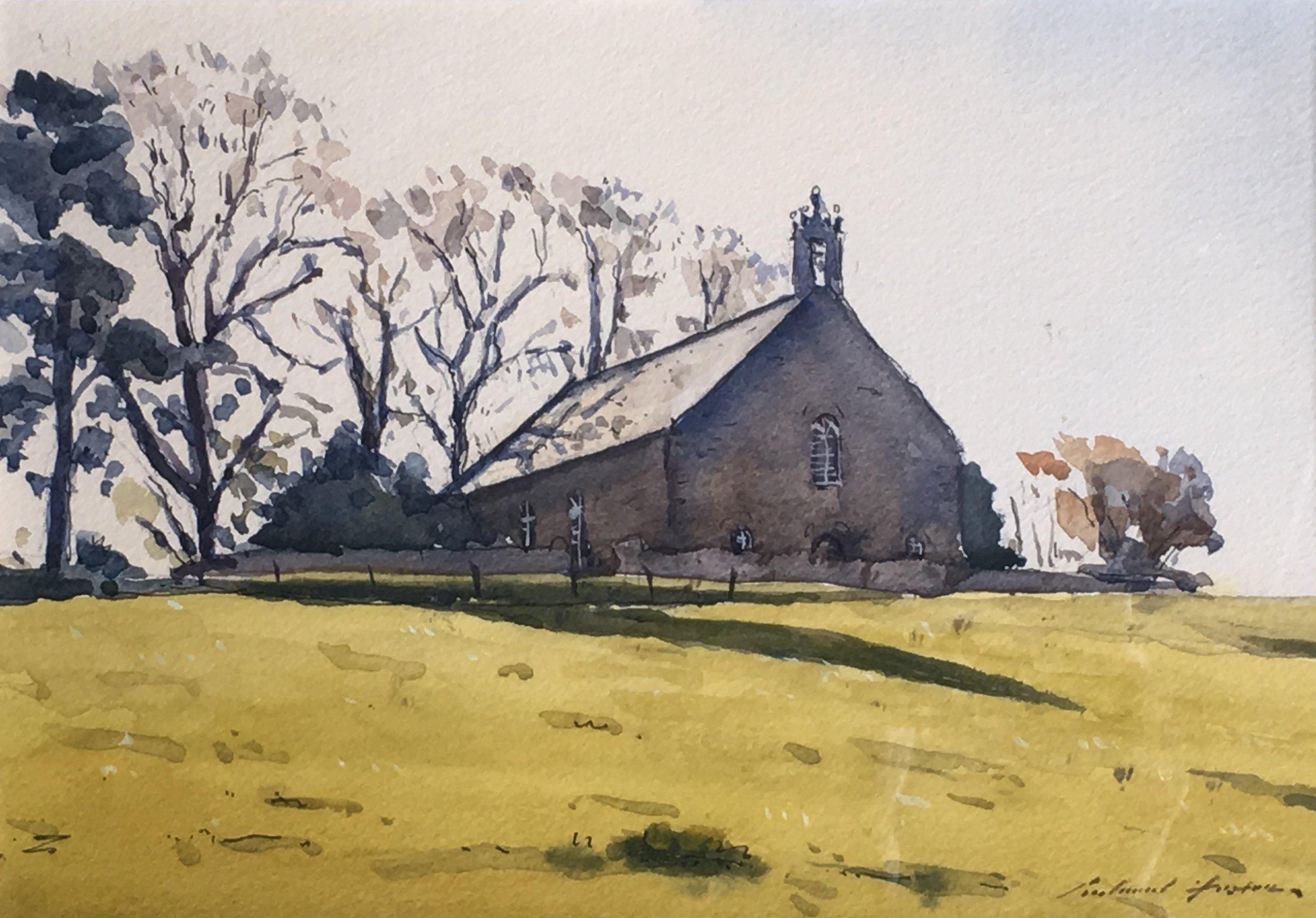 Marnoch Church, watercolour, 7 x 10.jpg