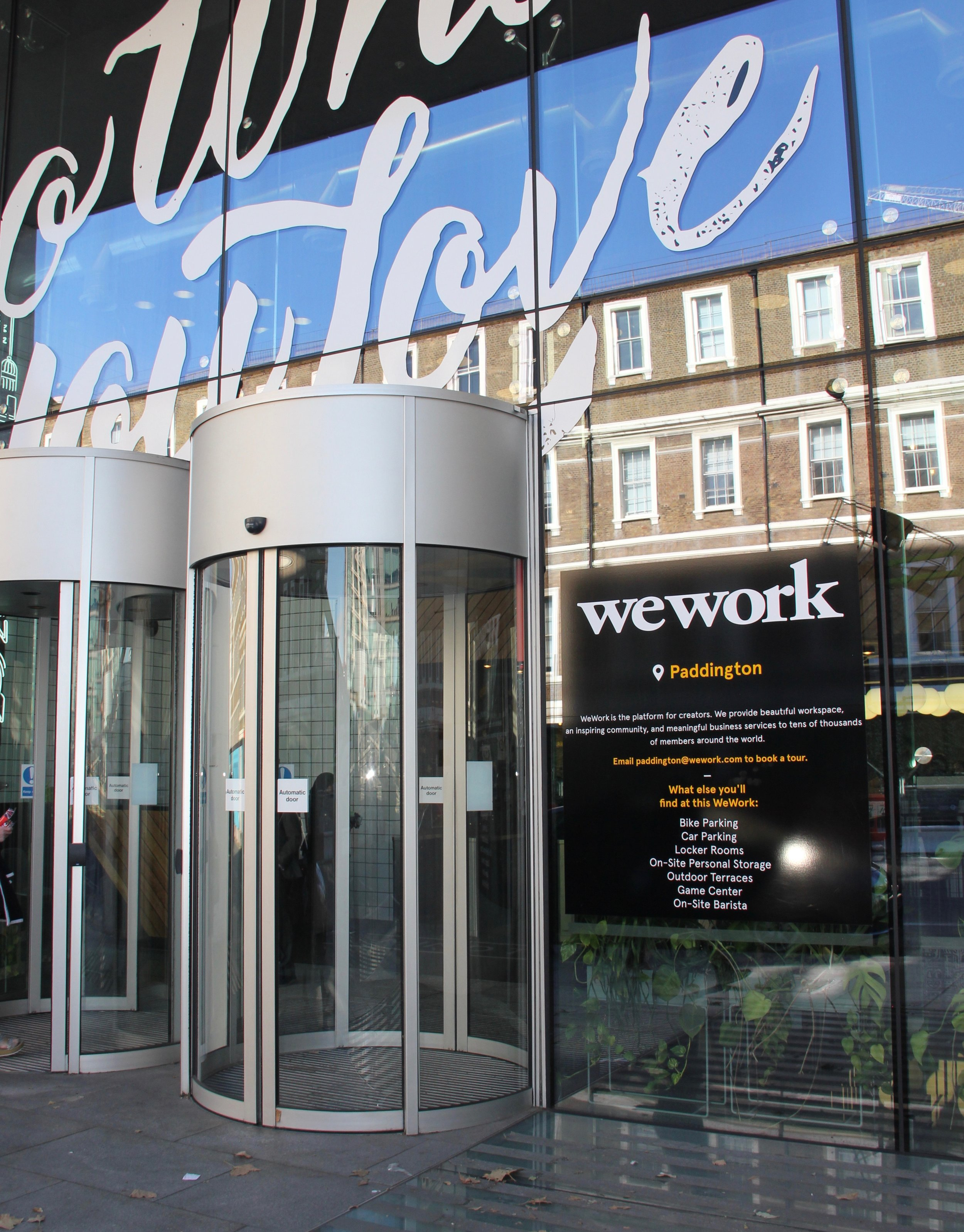 Free monthly events are held at WeWork workspace locations.