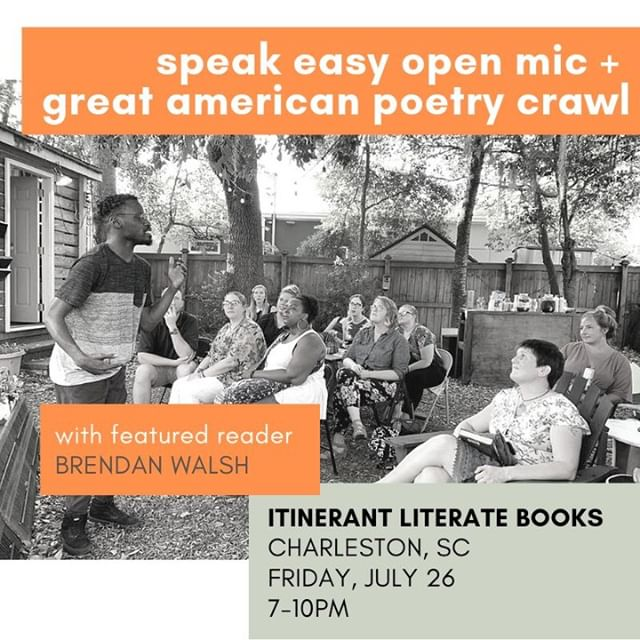 It is with abounding joy and gratitude and a heckuva lotta energy (still! somehow!) that I head into the last stop of the #greatamericanpoetrycrawl tonight at @chsbookmobile. If you are in #CharlestonSC you really should come and hear me read poems and hear @derekberrywriter read poems and probably most important of all read some poems yourself--the wine's pouring and the mic's open. Tonight! . . . . . #openmic #charlestonsc #charlestonscene #southcarolina #sc #charlestonlife #charlestonguide #chs #chstoday #chsevents #thingstodoincharleston #charlestonevents #poetryevents #poetryisnotdead #supportauthors #supportpoetry #writercommunity #poetsofig #poetrycommunity @charlestonsc @chstoday @chsdatenight @charlestongood @lowcountryweekend @chascitypaper #SoCharleston @charlestonmag @livelycharleston @unspokenwordchs