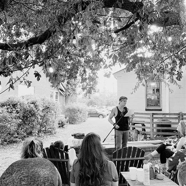 Wrapped the tour with a beautiful night at @chsbookmobile with the grand folks at @unspokenwordchs & am aghast at the beauty of what they are building in Charleston 🙏❤️✊ Thank you for the love and language and love of language! Now: to hit the road home. #beepbeep