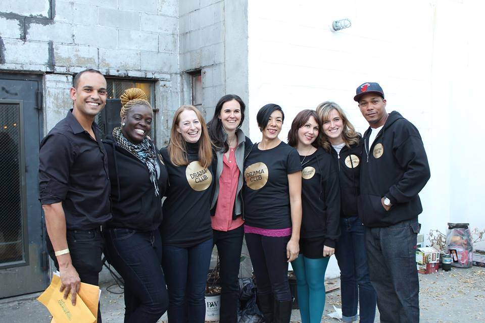 the Drama Club Board of Directors and staff (minus Christine Bella). From left to right, David Blasher, Stephanie Adjei, Josie Whittlesey, Alexandra Cox, Naoko Montoya, Khristal Curtis, Kelly Brady and Jecoina Vinson.