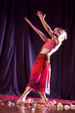 Pictured: Valerie Green, Executive Director, Dance Entropy Inc and previous QAF grantee, performing at Green Space. Photo by Rodney Zagury.